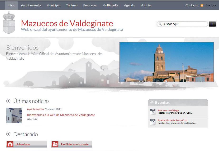 Bienvenidos a la web de Mazuecos de Valdeginate